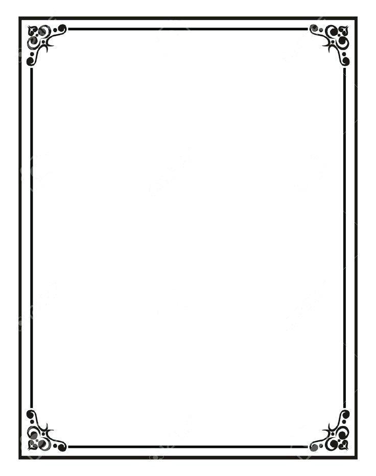 736x932 Free Vector Borders And Frames For Certificates