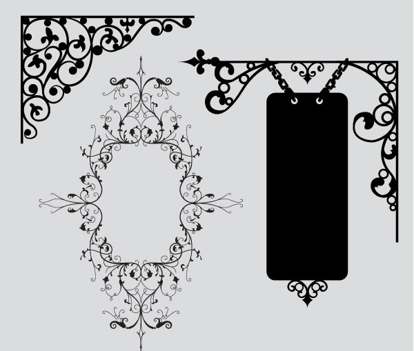 600x509 Massive Collection Of Vintage Vector Graphics Floral Borders