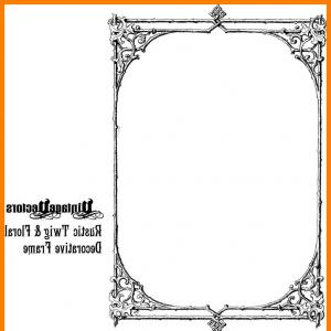 300x300 Stock Illustration Vintage Floral Frame Vector Border Engraving