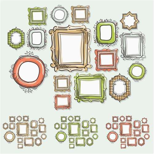 500x500 Vector Borders And Frames Collection 10 Free Vector Borders Frames