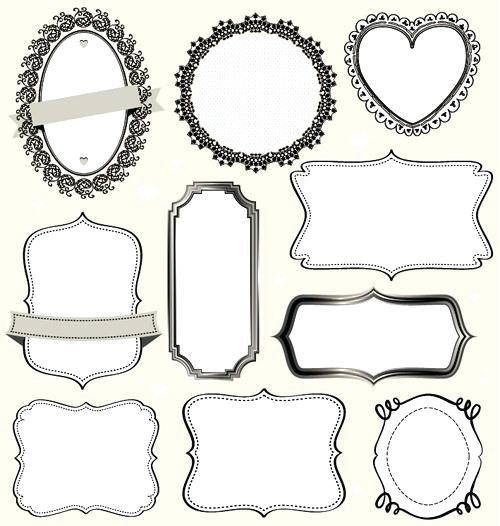500x526 Vintage Labels Frames Vectors Vector Borders Free With Old