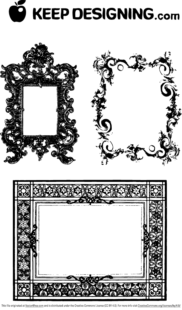 580x990 Fancy Vector Borders Fancy Frames Ornate Borders Free Vector Art