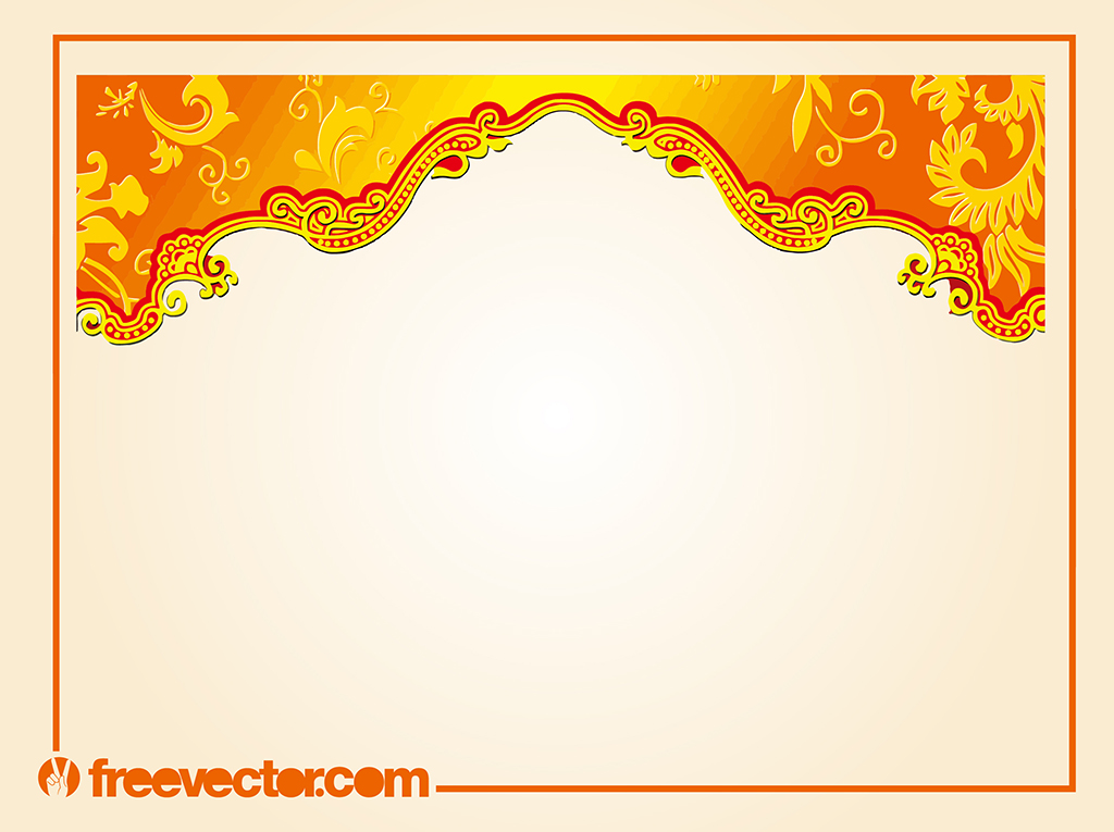 1024x765 Border With Floral Scrolls Vector Art Amp Graphics