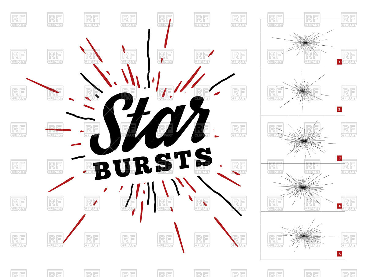 1200x905 Hipster Style Vintage Star Burst With Ray Vector Image Vector