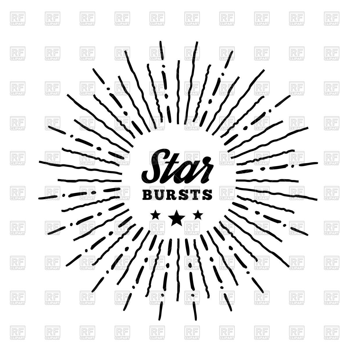 1197x1200 Hipster Style Vintage Starburst Vector Image Vector Artwork Of