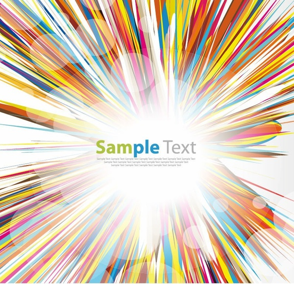 600x578 Multicolored Abstract Burst Vector Graphic Free Vector In