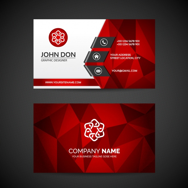 626x626 Business Card Template Vector Free Download