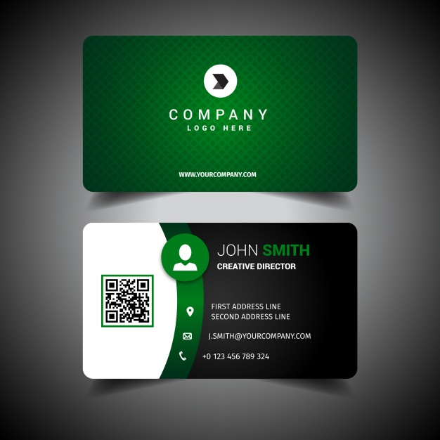 626x626 Business Card Template Design Vector Free Download