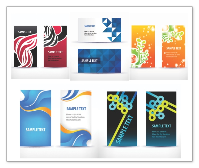 642x542 Business Cards Templates Vector Vector Graphics Blog