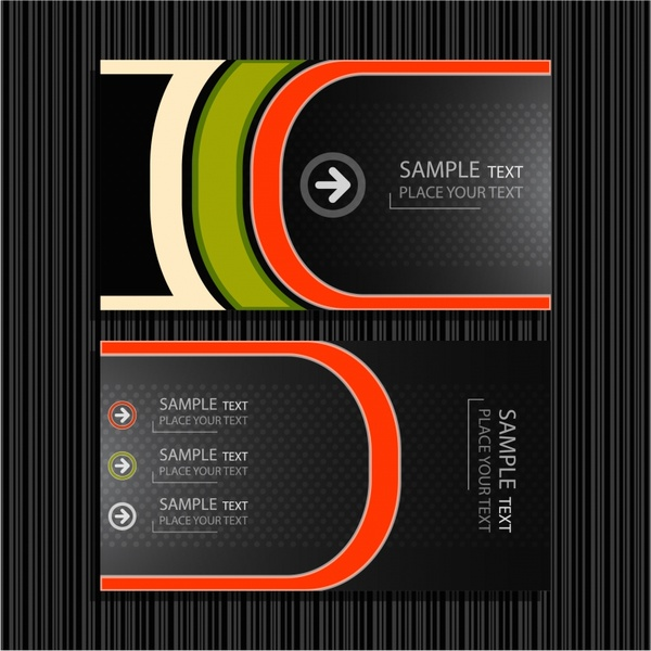 600x600 Fine Lines Background Vector Business Card Templates Free Vector