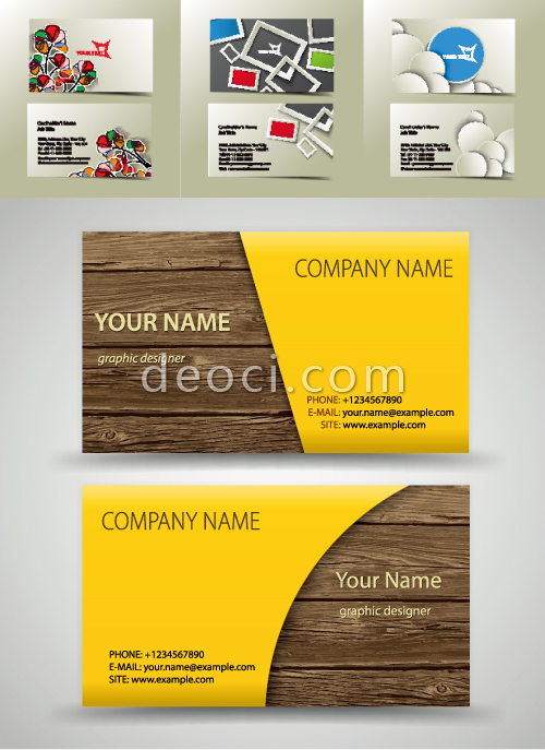 500x687 Free 4 Vector Business Card Cover Background Design Template
