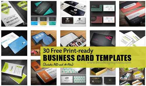 500x297 Free Business Card Template Designs 30 Psd, Vector Files