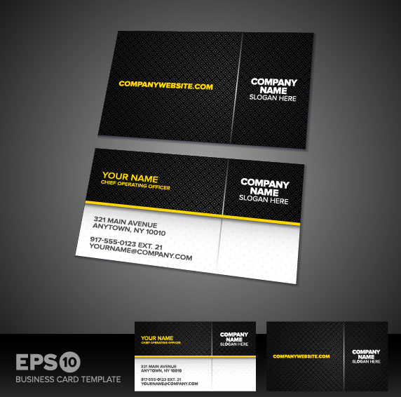 572x566 Free Download Business Card Template Vector