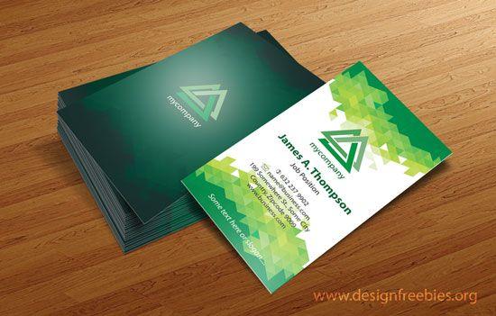550x351 Free Vector Business Card Design Templates Illustrator Vector