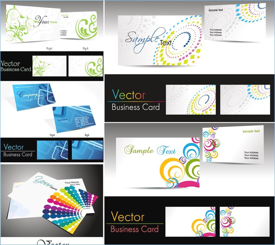 900x800 Free Vector Business Card Templates New Vector Business Card