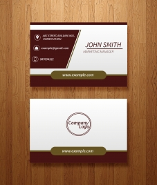 227x268 Free Business Card Templates Ai Vectors Stock For Free Download