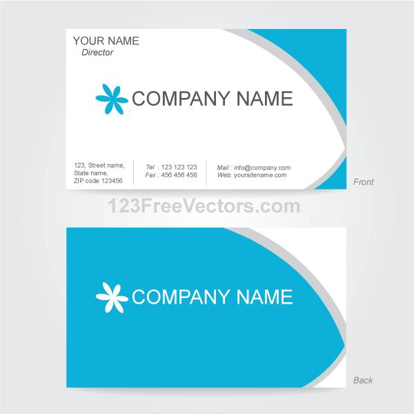 600x600 Vector Business Card Design Template Free Vectors