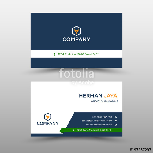 500x500 Blue Vector Business Card Template Stock Image And Royalty Free