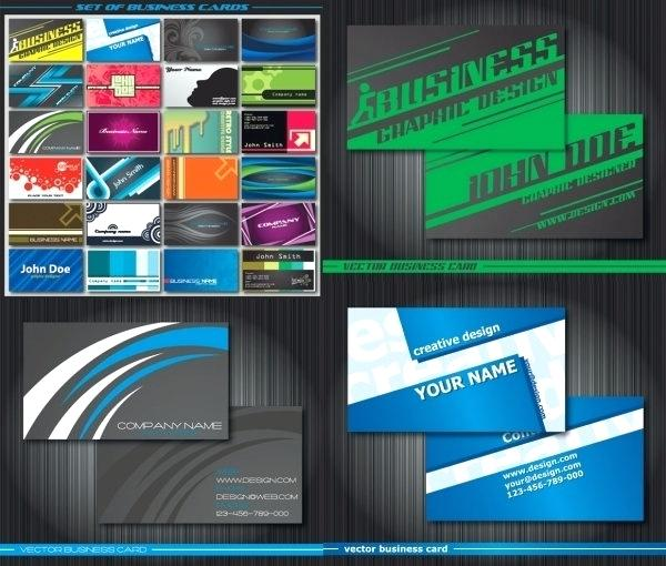 600x510 Business Card Template Illustrator Vector Free