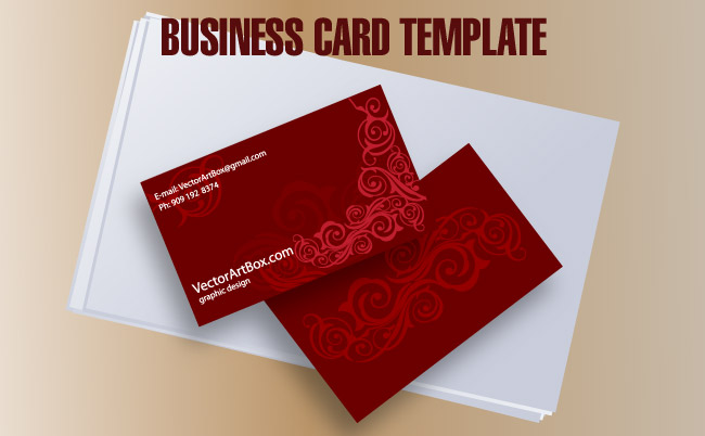 650x402 Business Card Template Free Vector 4vector