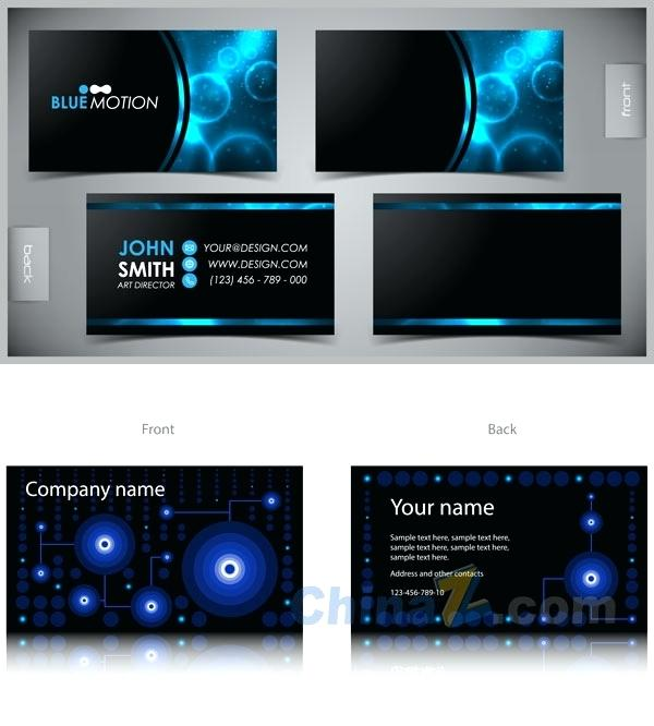 600x666 Business Cards Cdr Files Free Vector Business Card Template