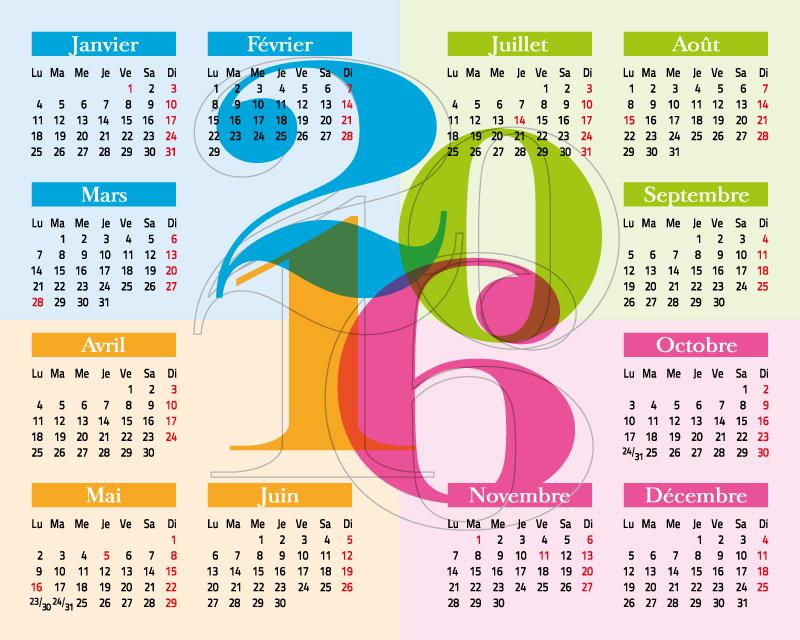 800x640 Calendar 2016 Free Vector Graphic Download