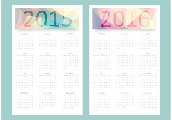 700x490 Free Vector Calendar 2015