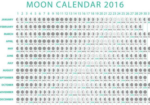 632x443 Moon Calendar 2016 Vector Free Vector Download 356763 Cannypic