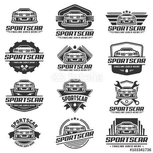 500x500 Vector Car Logo Design, Sports Car Logo Vector, Black Graphic