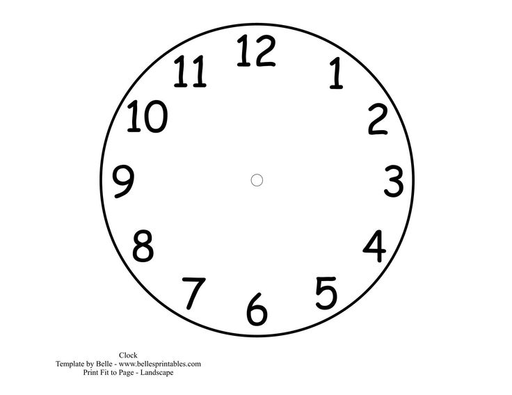 736x568 Clock Face Template Blank Printable Activity