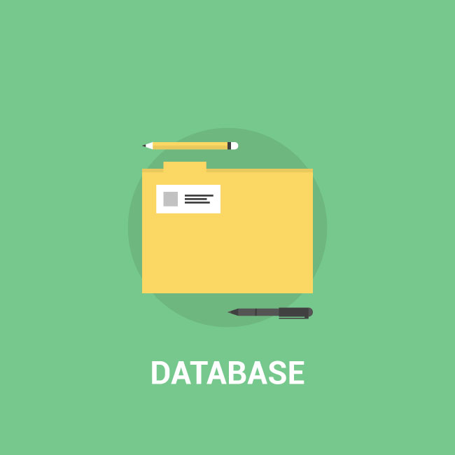 650x650 Database Icon Vector Image