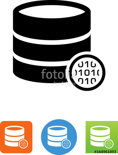 379x500 Database With Binary Code Icon Stock Image And Royalty Free