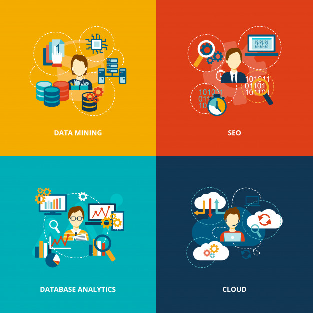 626x626 Database Analytics Icons Flat Vector Free Download