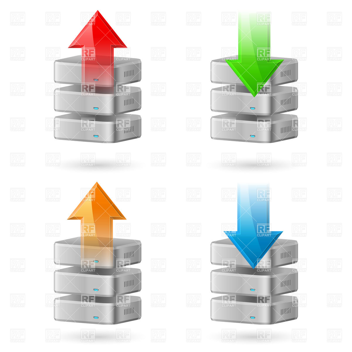 1200x1200 Database Backup Icon With Upload And Download Arrows Vector Image