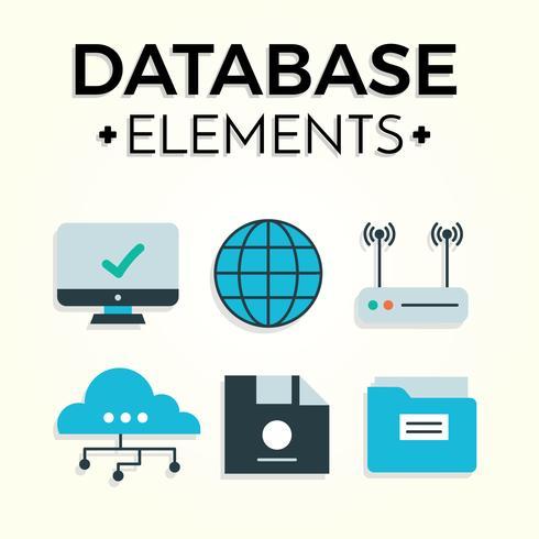 490x490 Free Database Elements Vector