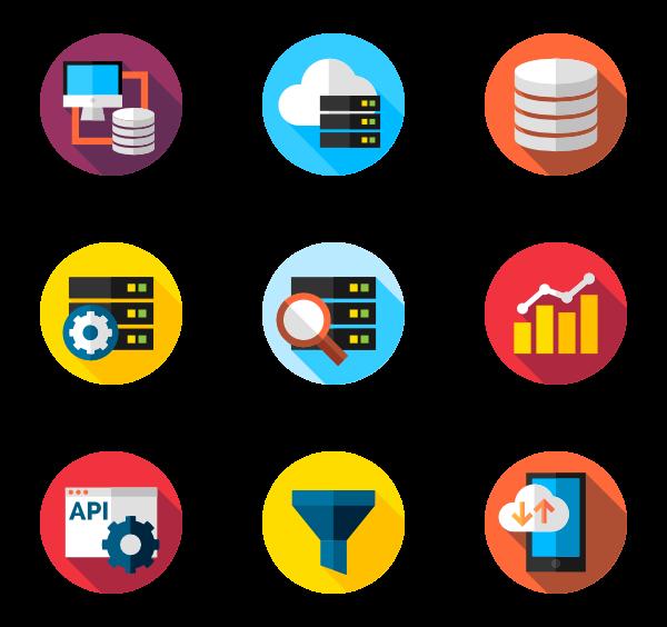 600x564 Circular Database Icons