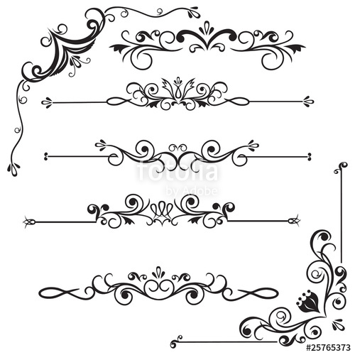 500x500 Decorative Borders Stock Image And Royalty Free Vector Files On