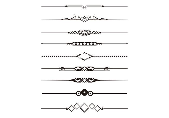 700x490 Decorative Elements For Design Dividers And Borders Vector Art