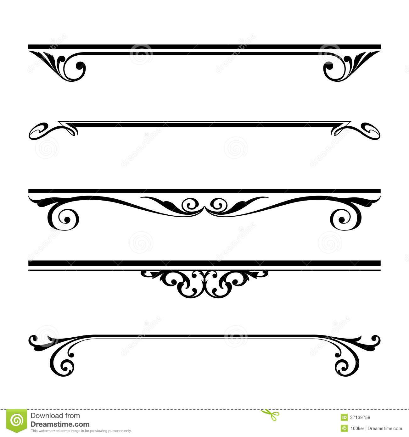 1300x1390 16 Decorative Lines Vector Images Decorative Line Clip, Decorative