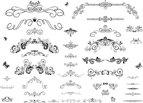 485x350 Decorative Scroll Work Border Free Vector Download (27,991 Free