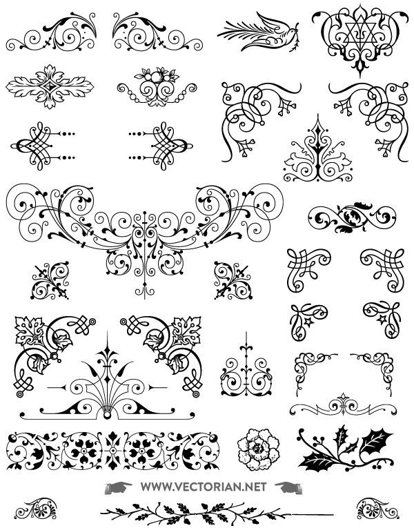 600x765 Download Free Vintage Vector Ornaments Pack All Free 85 Free