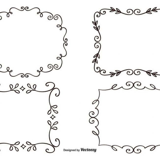 650x650 Free Vector Decorative Frame Set Free Vector Decorative Borders
