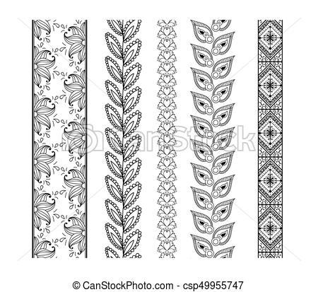 450x413 Set Ornamental Borders. Vector Decorative Elements. Set Ornamental