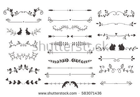 450x314 Free Vector Divider Lines Vector Retro Vintage Art Picture Stock