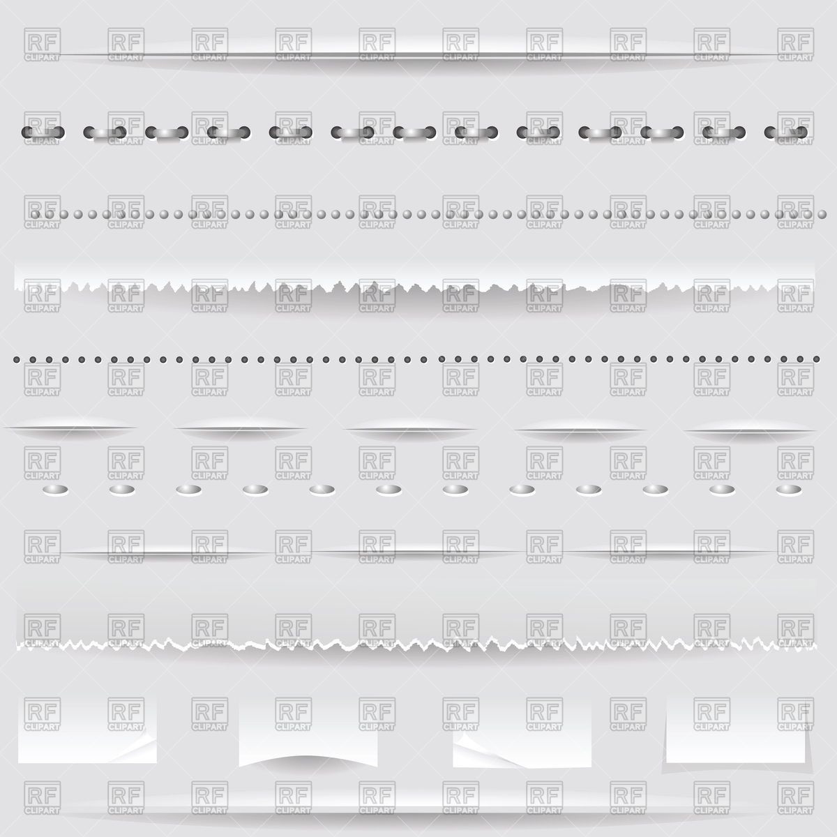 1200x1200 Set Of Divider Lines, Borders And Sutures Vector Image Vector