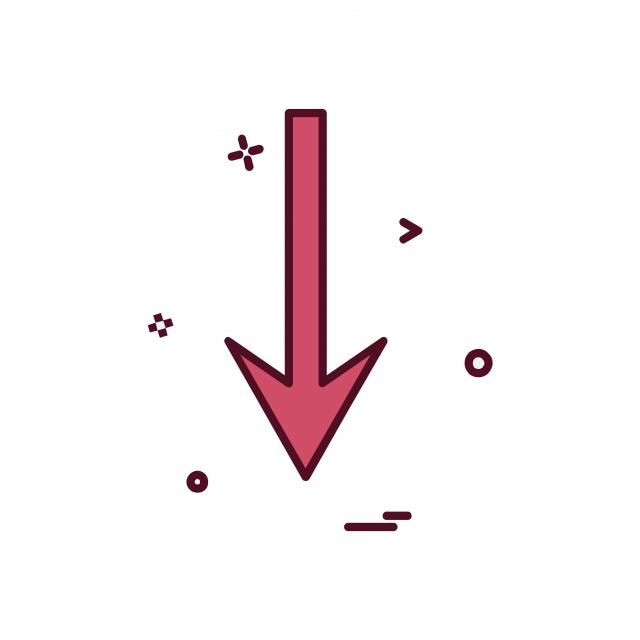 640x640 Down Arrow Icon Design Vector, Down, Symbol, Arrow Png And Vector