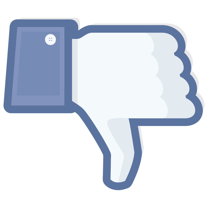 800x800 Facebook Dislike Transparent Thumbs Down Vector Icon Free Vector