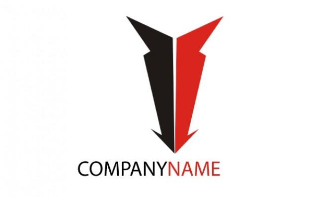 626x396 Logo Down Arrow Company Name Vector Free Download