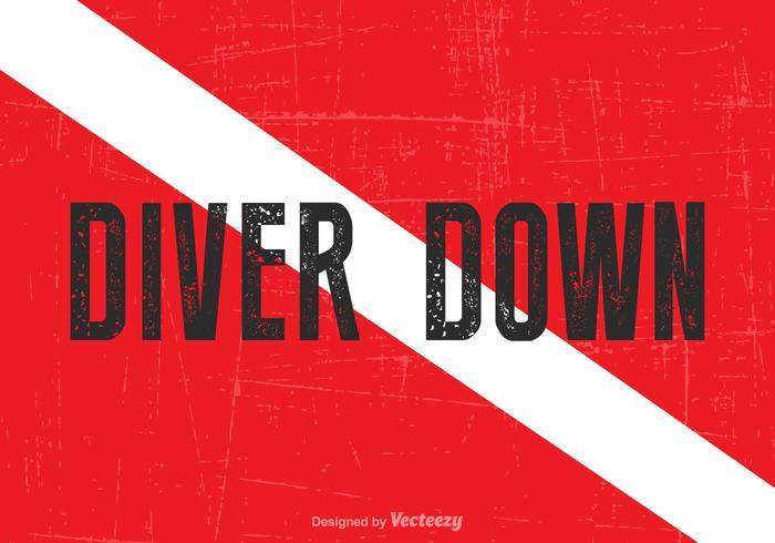 700x490 Vector Diver Down Flag