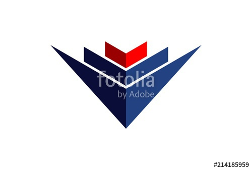 500x337 Abstract Building Down Arrow Logo Stock Image And Royalty Free
